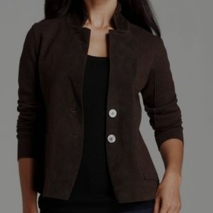 NWT Eileen Fisher Brown Felted Wool Jacket Large